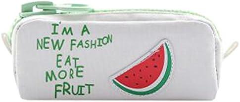 Kreativer großer Reißverschluss-Frucht-Bleistift-Beutel-Feder-Fall-Bleistift-Kasten für Schule/Büro, Wassermelone