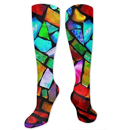 DIY-UMS Colorful Pinterest Long Socks Sport Socks Stockings Sports Socks for Women Men ()