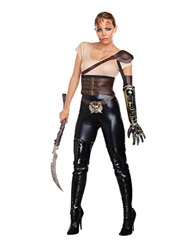 Mad Max Costume Women (Dreamgirl Women's Road Rage Costume, Black/Brown, Large)