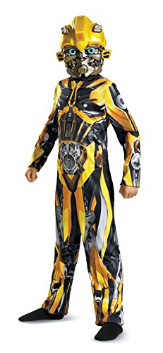Boy Transformer Costume (Disguise Bumblebee Movie Classic Costume, Yellow, Medium (7-8))