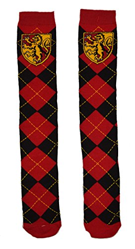 Harry Potter Gryffindor School Uniform Knee High Socks, Red, 9-11 (Hogwarts School Uniform)