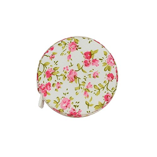 - Besplore Tape Measure,Fabric Packing,Retractable,Button,150cm 62Inches,Floret