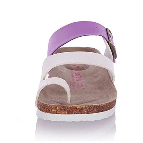 Sandales Confort Mules RAZAMAZA Violet Femmes 0OBnnU