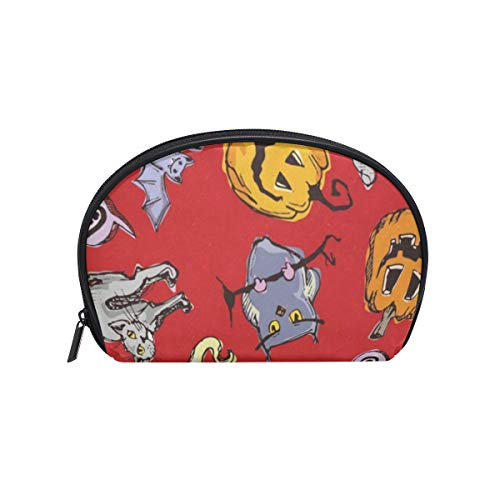 Cosmetic Bag Halloween Pumpkin Ghost Customized Shell Makeup