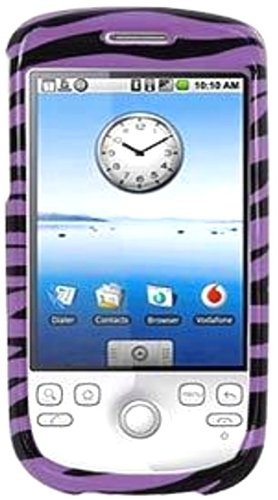 (Amzer Zebra Print Snap-On Crystal Hard Case for T-Mobile myTouch 3G/HTC Magic - Purple)