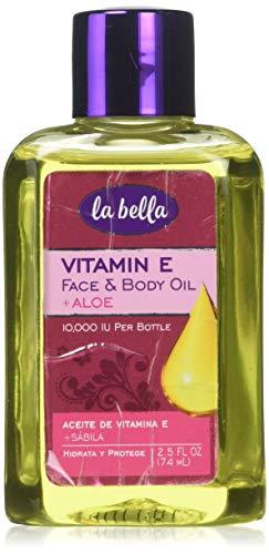 2.5 Ounce Oil - La Bella Vitamin E Oil with Aloe, 2.5 Ounce