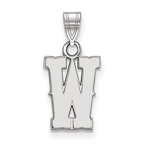 10k White Gold LogoArt Official Licensed Collegiate The University of Wyoming (UW) Small Pendant by Logo Art