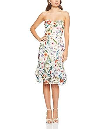 Cooper St Women's Gardenia Vintage Strapless Midi Dress, Print Light, 10