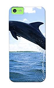 meilinF000Christmas Gift - Tpu Case Cover For ipod touch 5 Strong Protect Case - Dolphins Mammals Diving DesignmeilinF000