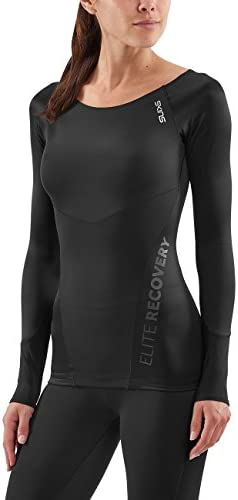 SKINS Women DNAmic Elite Recovery Long Sleeve Top - Black, X-Large