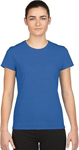 Gildan- Camiseta de deporte de manga Core Performance corta para chica azul cobalto