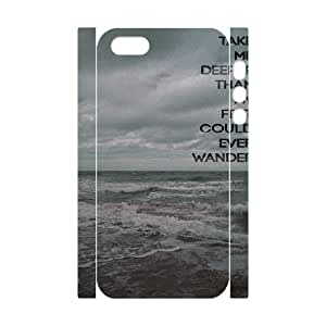 Sea and clouds iPhone 5,5S Cover, Customized iPhone 5,5S Case 3D