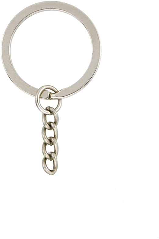 portachiavi in metallo con anelli maglione Portachiavi con catenine e anelli per ponticello adatto per artigianato 25 mm creazione di gioielli fai da te e cos/ì via. 30 set resina YHYZ