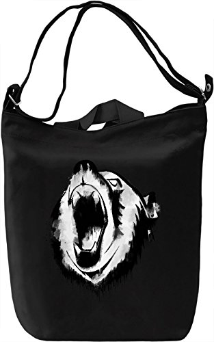 Angry Bear Borsa Giornaliera Canvas Canvas Day Bag| 100% Premium Cotton Canvas| DTG Printing|