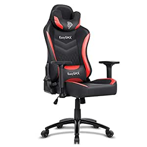 Swell Easysmx Gaming Chair Racing Office Computer Game Chair Ergonomic Backrest And Seat Height Adjustment Recliner Swivel Rocker With Headrest And Waist Andrewgaddart Wooden Chair Designs For Living Room Andrewgaddartcom