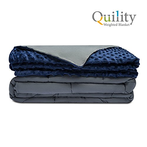 Quility Premium Adult Weighted Blanket & Removable Cover | 20 lbs | 60
