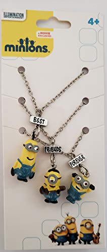 Illumination Despicable Me Minions Best Friends Forever (3) Necklaces -