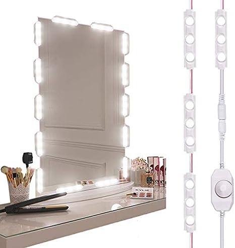 OurLeeme Luci a specchio a LED luci di striscia dimmerabili con controllo touch USB per specchio da trucco e per il trucco Portatile Facile da impostare