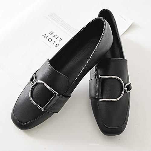 04178972516 Jual Meeshine Women Slip-On Loafers Buckle Fur Lined Slippers Flat ...