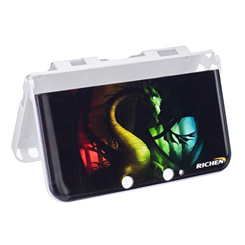 RICHEN Nintendo 3DS XL LL Case,Plastic Hard Skin Shell Case for Nintendo 3DS XL LL(Not New 3DS XL) -Green Dinosaur ()