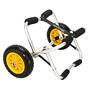 Bonnlo Kayak Cart Canoe Carrier Trolley with NO-Flat Airless Tires Wheels 2 Ratchet Straps Transport Jon Boat Dolly Tote