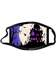 Halloween Face_Mask Adults Funny Expression Washable Prints Face_Mask