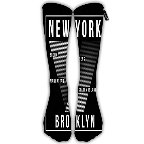 Unisex Classic Knee High Over Calf New York City Brooklyn Silhouette 3D Print Athletic Soccer Tube Cool Fun Party Cosplay Socks ()