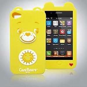 WQQ cuidado lleva silicona con estuche blando para el iphone 4 / 4s , Yellow