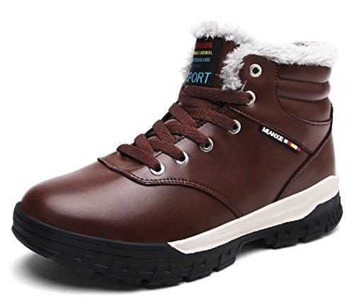 Eagsouni Herren Schneestiefel Warm Gefütterte Winterschuhe Leder Wasserdicht Kurzschaft Stiefel Outdoor Winter Boots D5rxUWu