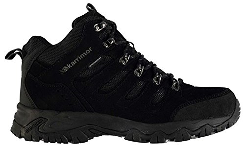 KarrimoR Mens Hiking Walking Hi Top Ankle Boots Black/black zgCsk5O