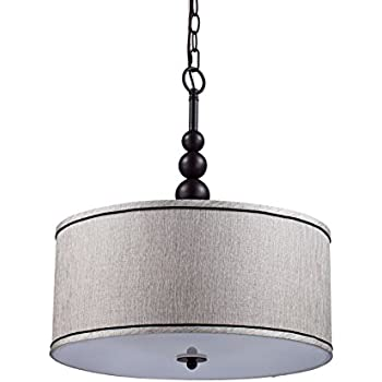 yobo lighting vintage modern glass 3light kitchen chandeliers oil rubbed bronze drum shade