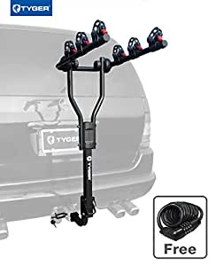 """TYGER TG-RK3B101S 3-Bike Hitch Mount Bicycle Carrier Rack 