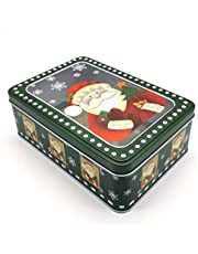 AVBXAWGU Christmas Candy Jar Metal Can Christmas Lovely Mini Gift Jewelry Tin Box Cookie Candy Decorative Candy Storage Jar I