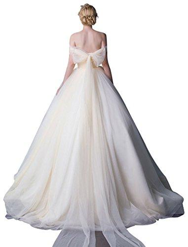 Emily Sweep Hochzeitskleid Lange Weiß Taille Band Rüschen Beauty Mehrzweck Tailing HxPYwHd