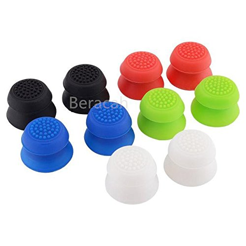 Beracah Silicone Thumb Stick Grips Extenders Cap for PS4 Xbox 360 Xbox one Controllers 10Pack