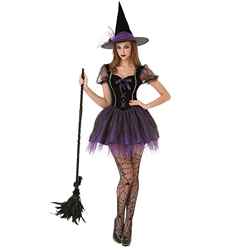 Wicked Witch Women's Halloween Costume Sexy Spellcaster Classic Fairytale Dress