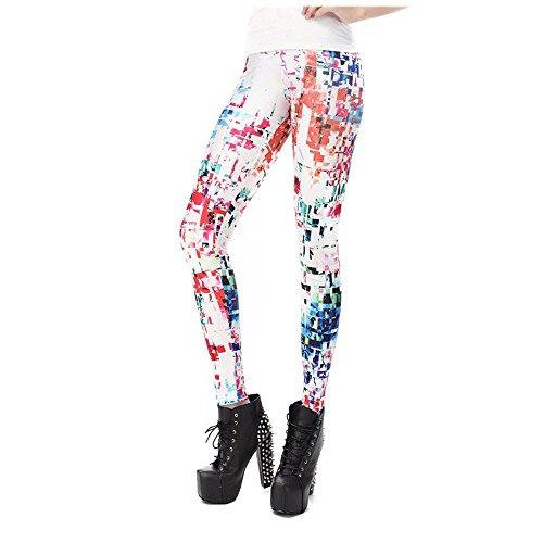 通り抜ける天才トライアスロン365 Cor新しいファッション3dプリントカラーレイ蛍光レギンスパンツレギンス女性の[ kdk1427 M ]