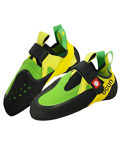 Ocun Oxi QC Zapatos de escalada - Verde y amarillo