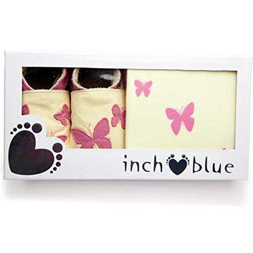 """Inch Blue niñas niños zapatos de bebé de cuero & Algodón Gorro en caja Set de regalo–impreso–""""Caleidoscopio"""""""
