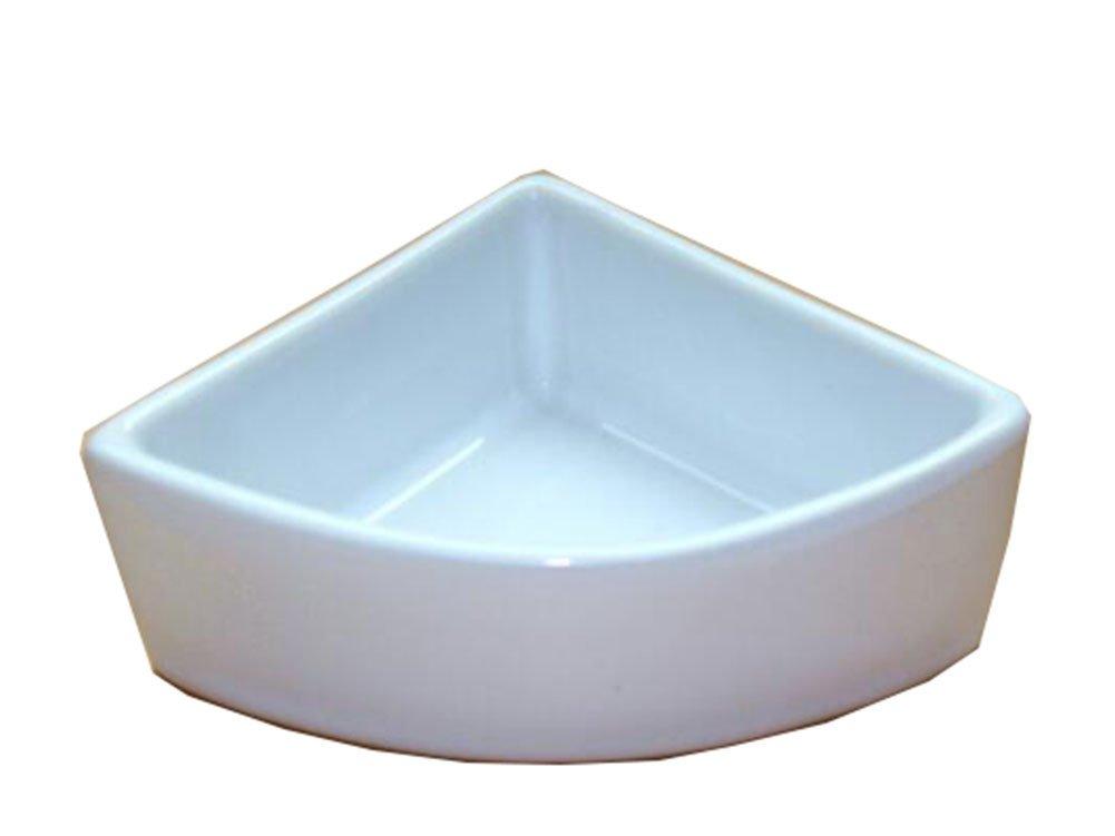 George Jimmy Pet Supplies One Little Ceramic Feeding Pot Anti-Splash Food Bowl for Squirrel Hedgehog Hamster 10.5x7.5x4CM(White)