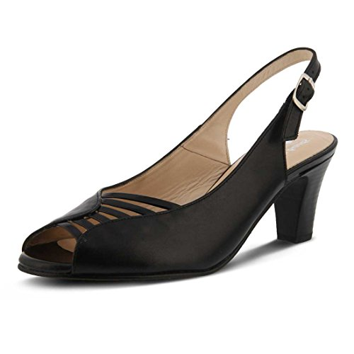 Spring Pump Leather Step Fiorella Black Women's rqYrz