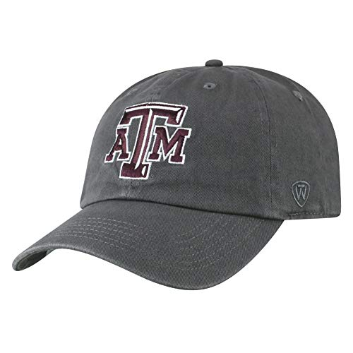 Texas A&m Aggies Sport Hat - Top of the World Texas A&M Aggies Men's Hat Icon, Charcoal, Adjustable