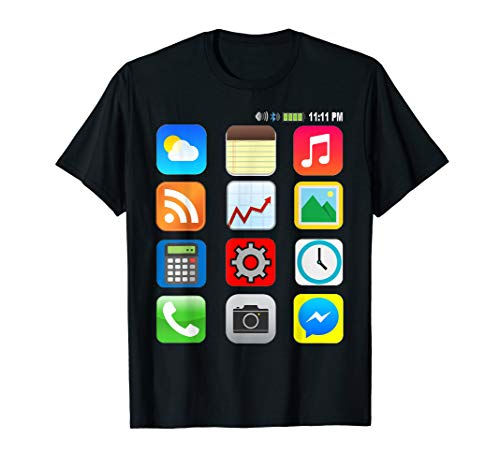 Cell Phone | Smartphone | Easy DIY Halloween Costume Idea T-Shirt