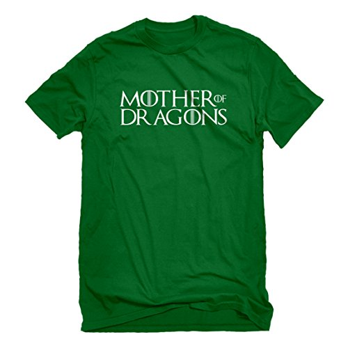 Mens Mother of Dragons Large Kelly Green T-Shirt