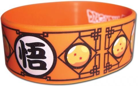 Dragon Ball Z Wristband Goku Kanji Miniature Novelty Toys (Goku Wristband)