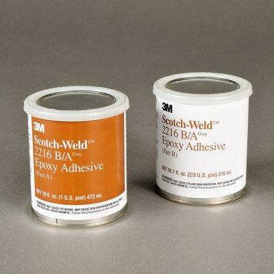 3M Scotch-Weld 2216 Epoxy Adhesive, 1 pt Kit, Gray