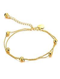 Star Jewelry 18k Gold Plated Copper Women Anklet Bracelet Chain Lantern/Heart/Bells Pendant Adjustable