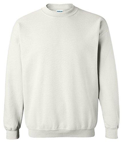 Gildan Men's Heavy Blend Crewneck Sweatshirt - Large - White