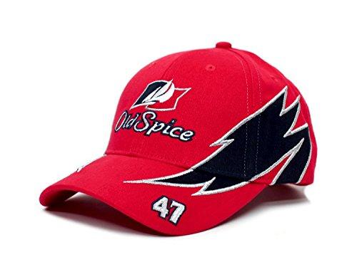 Old Spice Hat #47 Cal Naughton Cap Talladega Nights Unisex Red