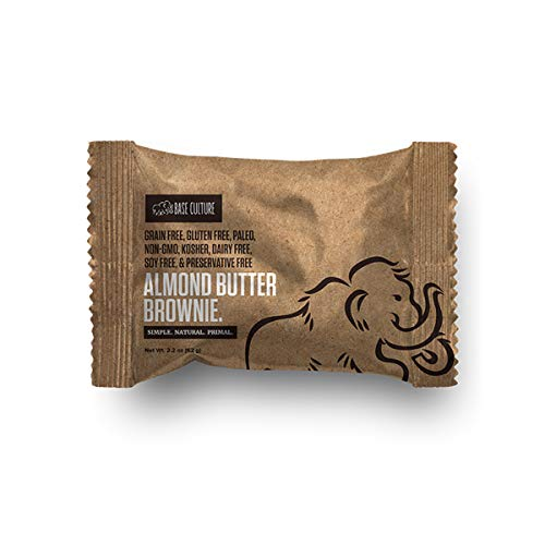 Base Culture Almond Butter Brownie | 100% Paleo | No Added Sugar | Free of Gluten, Grain, Dairy, and Soy | 6g Protein (10 Count)